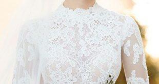 65+ atemberaubende High-Neck Brautkleider