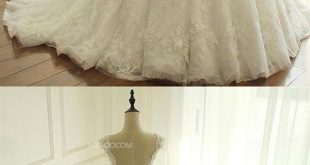 A Line V Neck Sleeveless White Lace Wedding Dresses Best Bride Gown With Appliques