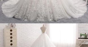 A Line White Sweetheart Cut Out Lace Wedding Dresses