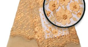 African high quality cord lace guipure lace fabric for party dress