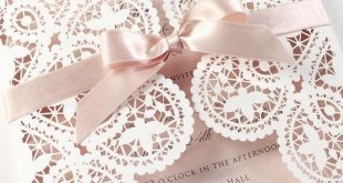 Amazing Romantic Laser Cut Wedding Invitation Day Evening