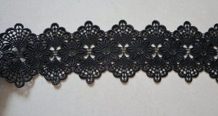 Black Lace Trim, venise Scalloped Lace Fabric, 7 cm wide Lace Trimming for sewing supplies