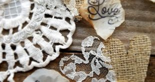 Burlap table runner with lace, Rustic wedding decor Ideas