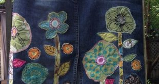 Custom Jean Skirt for you Hippie Boho denim patch by SewUnruly