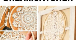 DIY Doily Dream Catcher - Treasured Oak Springs