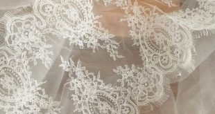 Eyelash Trim Alencon Lace Fabric in Ivory for Wedding, Bridal Bolero, Costume design, Bridal Shrug,