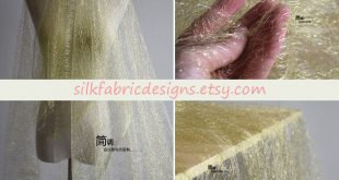 Gold Hollow Mesh Lace Fabric By the Yard Or Meter