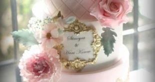 Gold Lace Wedding Cake by Sihirli Pastane - cakesdecor.com/...