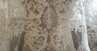 Gorgeous Beaded Wedding Lace Fabric Luxury Retro Aulic Lace New Design Lace fabric For Bridal Dress Fashion Dress High Quality By The Yard