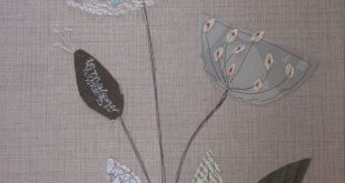 H-anne-Made: Stitched Collage Workshop. Love the soft look of the lace and the
