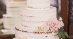 Halbnackte Hochzeitstorte   - Buttercream Wedding Cakes - #Buttercream #Cakes #H...