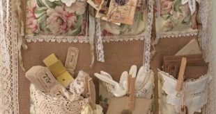 I would love a wall hanger just like this! All vintage and lace and doilies!