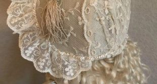 Ivory and lace couture ensemble for French Bebe