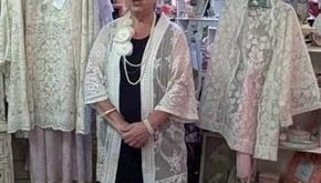Lace jackets made with vintage lace tablecloths. Stunning! #lacejackets #vintage...