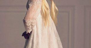 Mädchen Blumenmädchen Weihnachten Kleid, erste Kommunion Kleid, Off-White Lace Dress, Boho-Blumen-Mädchen, Mädchen Kleinkind Spitzenkleid, Boho-Hochzeit