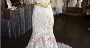 Mermaid Ivory Lace Strapless Train Wedding Dress from wendyhouse