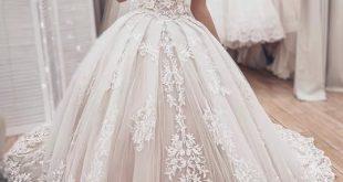 Neue Schulterfreie Brautkleider aus Spitze – Angrila