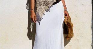 Poncho Boho chic, Kleidung Stil Boho, Poncho Schal aus Seide und Leinen, Hippie Kleidung, Bettwäsche, natürliche Faser Top Sommer