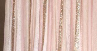 Rosa weißer Spitzenstoff Gold Sparkle photobooth Hintergrund