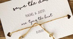 Rustikal, den Knoten bindend, retten Sie die Datums-Karten - Hochzeits-Einladungen rustic wedding invitations