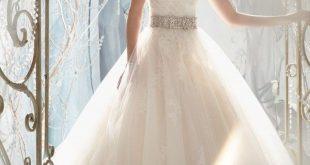 Schatz-Sleeveless trägerloses Tulle bördelte Spitze Appliques Hochzeits-Kleid