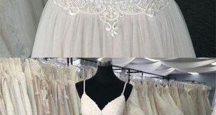 Simple Ivory Lace Tulle Wedding Dress,Spaghetti Straps V-Neck Long Prom Dress