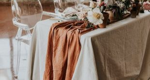 Terracotta Table Runner, Cheesecloth Table Runner, Copper Wedding Decor, Rustic Wedding Decor, Wedding Decor, Boho Table Decor, table runner