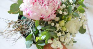 Tischdeko mit Pfingstrosen selber machen – Rosa Hochzeit Teil 3