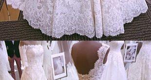 Vintage Cap Sleeves Open Back Lace Wedding Dresses 2019 - #cap #DRESSES #Lace #O