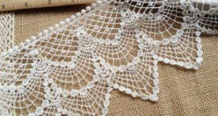 Vintage Lace Fabric, Beige Cotton Guipure Fabric with Floral Pattern, Retro Crochet Hollowed Lace Fa