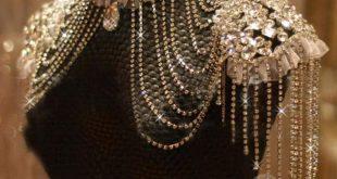 Vintage Rhinestone Lace Shoulder Necklace Body Chain