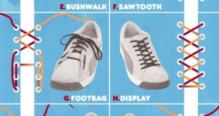 Ways to tie shoe laces