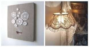 Wonderful Diy craft ideas from doilies and lace for your home decoration