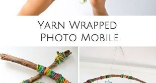 YARN WRAPPED PHOTO MOBILE