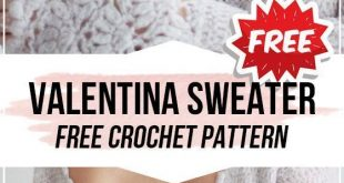 crochet Valentina Top Sweater free pattern