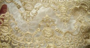 gold Embroidered Lace Trim Golden Lace trim, gold tulle lace trim, gold mesh lace trim with double m
