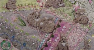 vintage art: abrics, embroidery, beads, buttons and lace - crafts ideas - crafts...